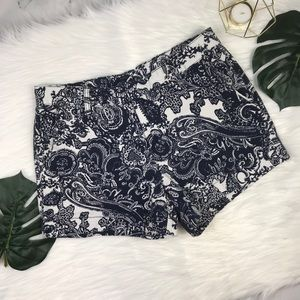 Joe Fresh | White & Navy Blue Printed Shorts